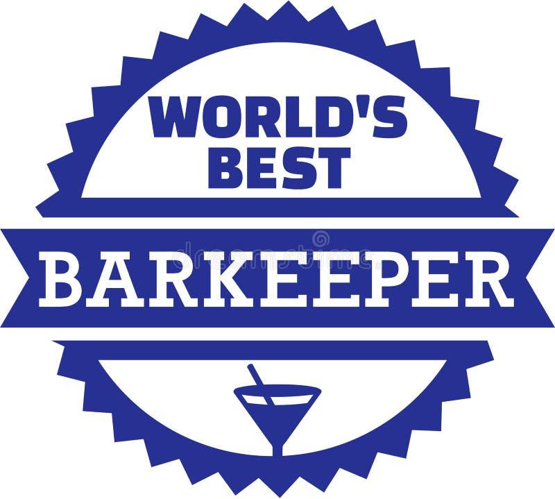 Barista Barman del barista del ` s del mondo migliore royalty illustrazione gratis