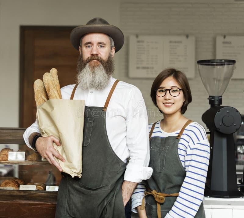 Barista Coffee Cafe Concept del grembiule fotografie stock libere da diritti