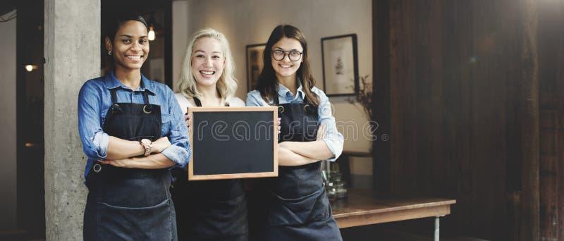 Barista Coffee Shop Concept di associazione degli amici fotografia stock