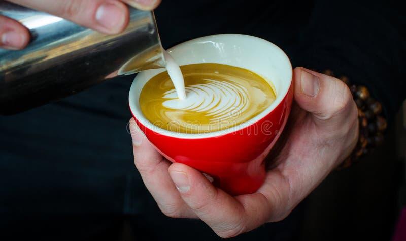 Barista kawy piwowarstwo obrazy royalty free