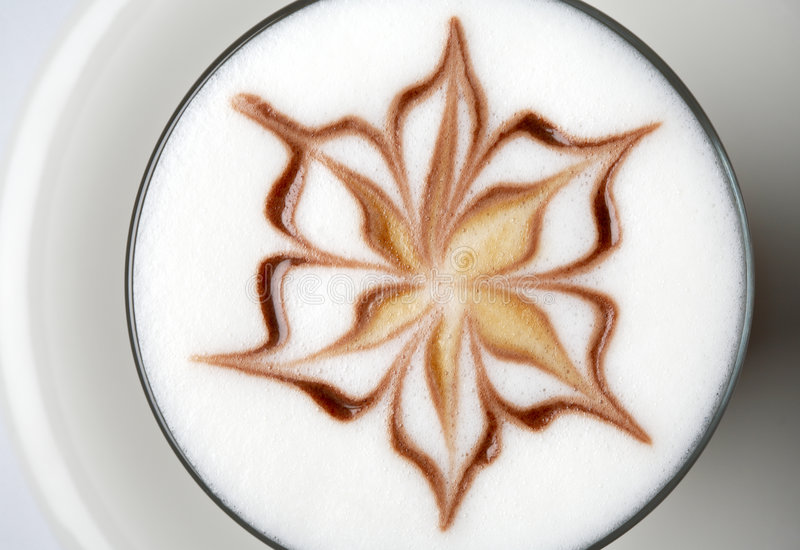 Barista latte coffee stock photography