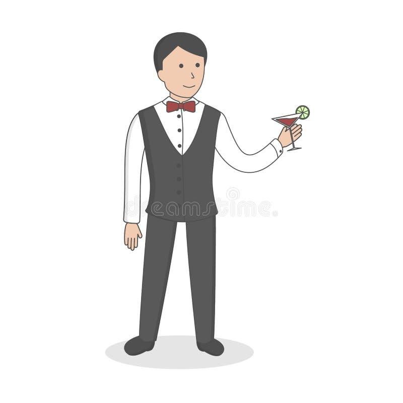 barista professionista royalty illustrazione gratis