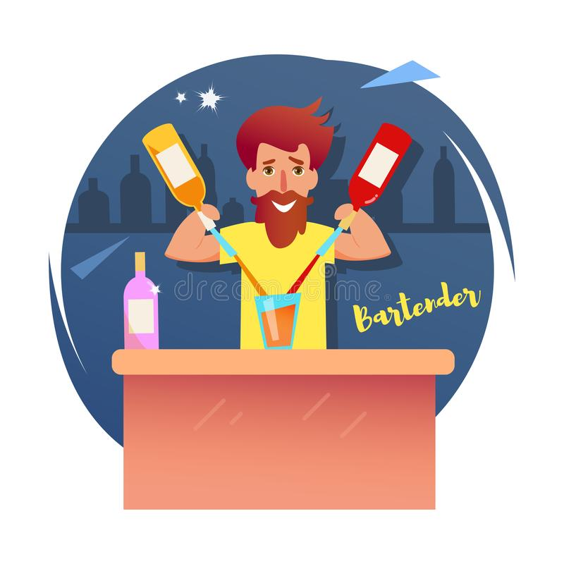 barista Vettore fumetto Isolato royalty illustrazione gratis
