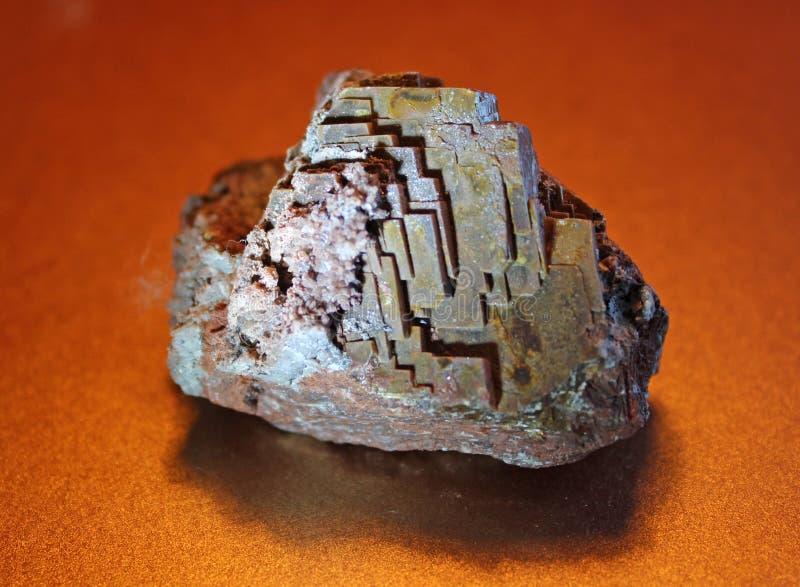 Baritina mineral de la piedra preciosa imagenes de archivo