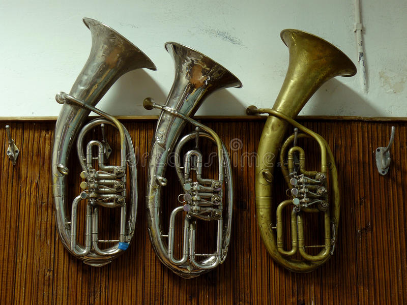 Baritone horns royalty free stock photo