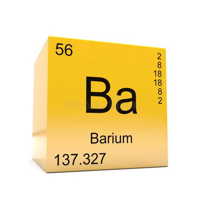 Barium Chemical Element Symbol From Periodic Table Stock