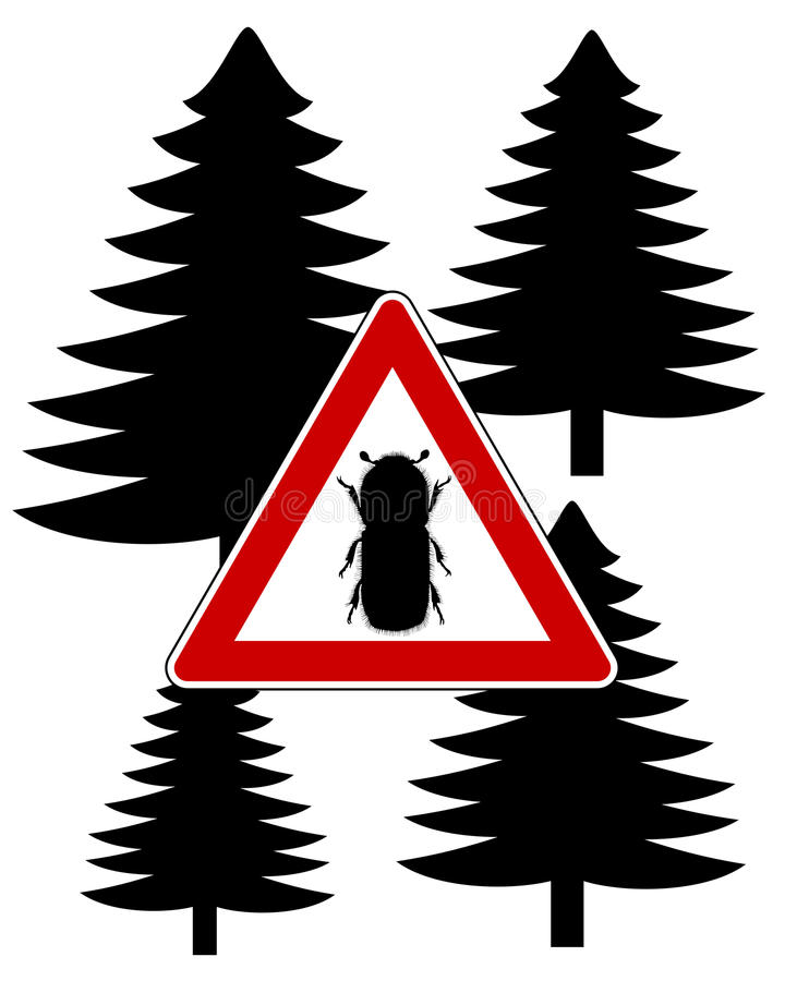 Download Bark-beetle attention sign stock vector. Image of typographus - 20503846