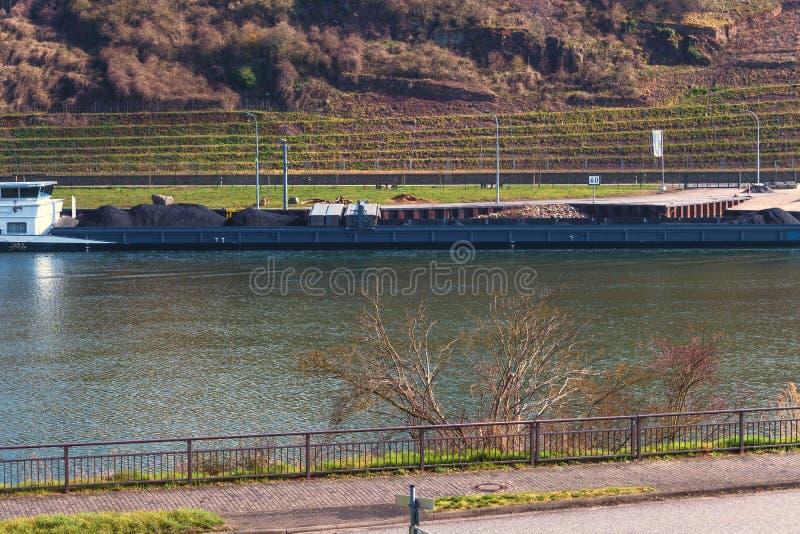 Barka na Moselle obraz royalty free