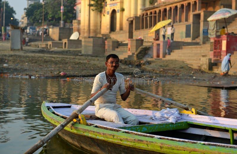 Barkarz w Varanasi obraz royalty free