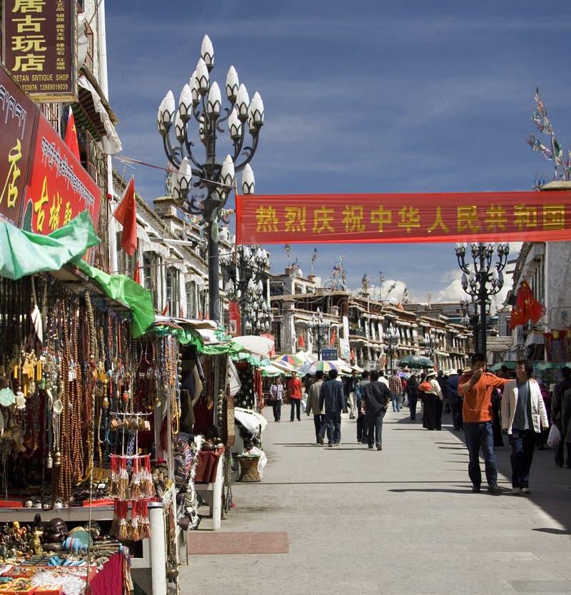 barkhor拉萨西藏 免版税图库摄影