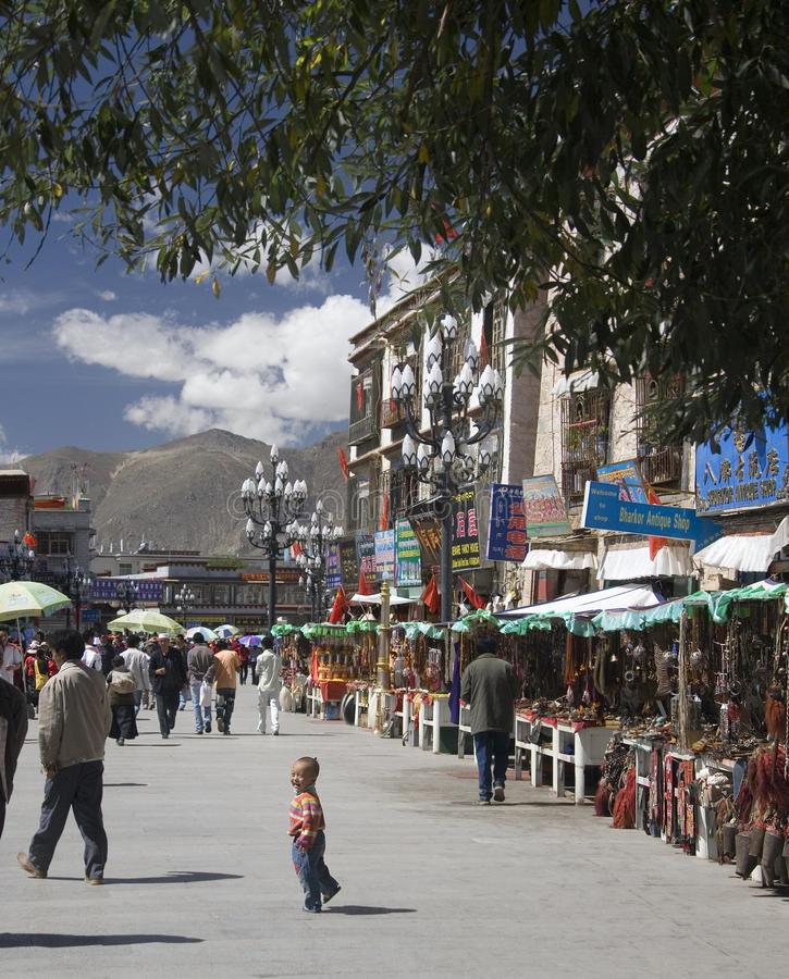 The Barkhor - Lhasa - Tibet stock images