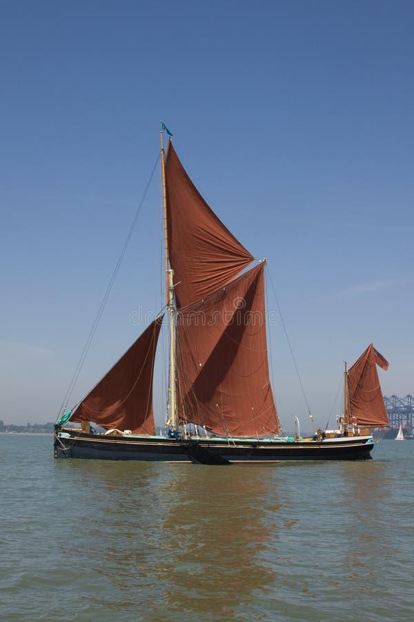 barki żeglowanie Thames zdjęcie stock