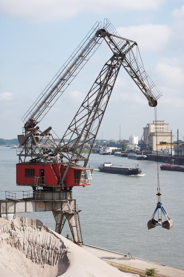 barki wiertnicy Rhine rzeka obrazy royalty free