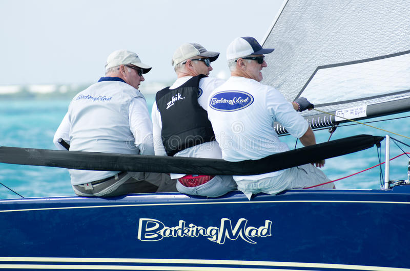 Barking Mad finishes 9th out of 52 at the Melges 20 World Championships stock image