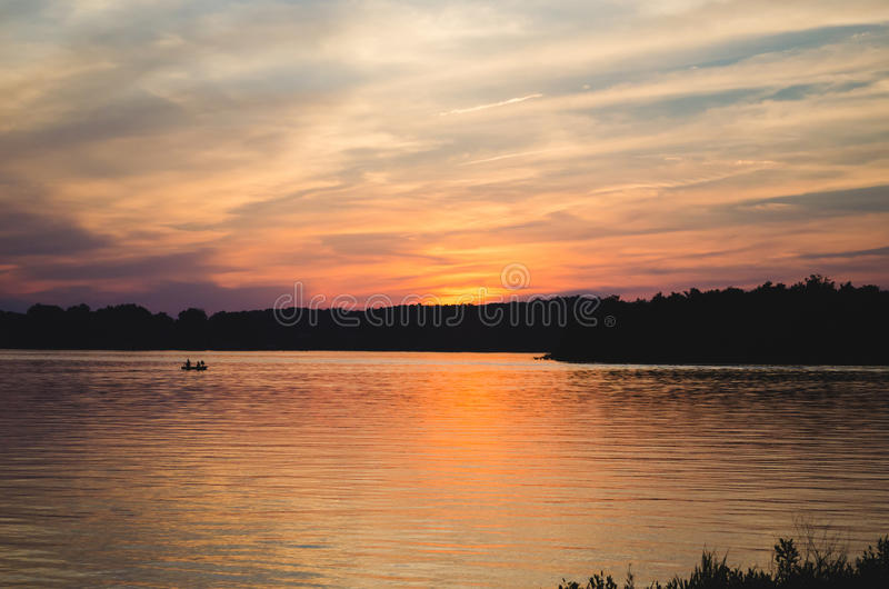 Barkley Sunset. Sunset over Lake Barkley in late spring after memorial day stock image