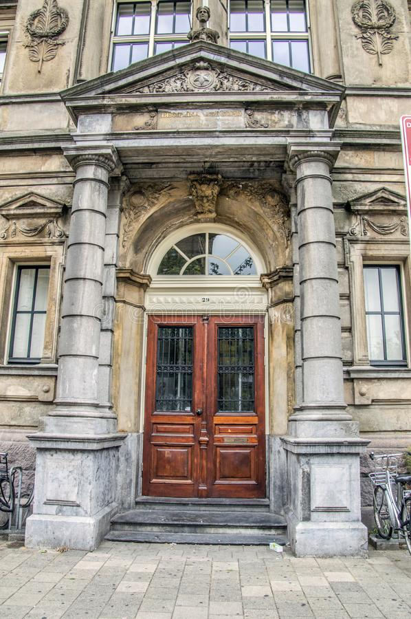 Barlaeus健身房学校的入口在阿姆斯特丹Barleus健身房学校的荷兰2018Entrance在阿姆斯特丹T 免版税库存图片