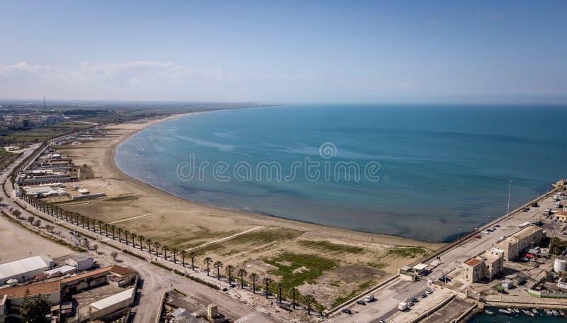 Barletta, praia de Itália imagem de stock royalty free