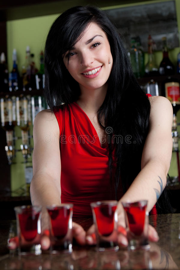 Barmaid photographie stock