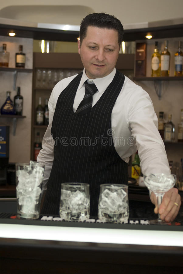 barman obraz royalty free