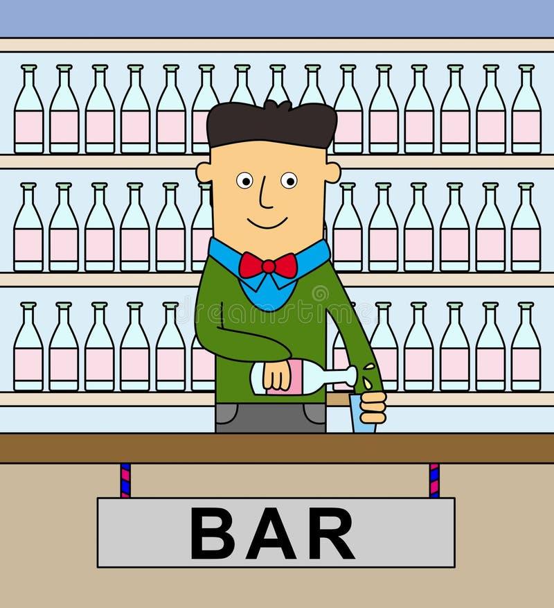Barman illustration libre de droits