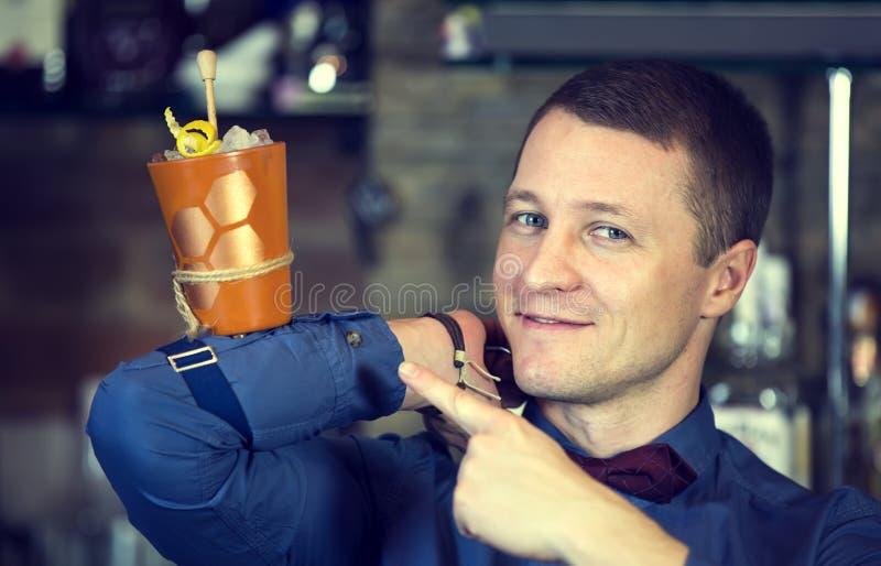 Barman image stock