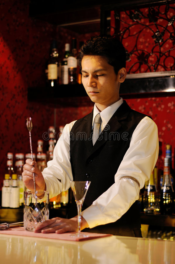 barman obrazy royalty free