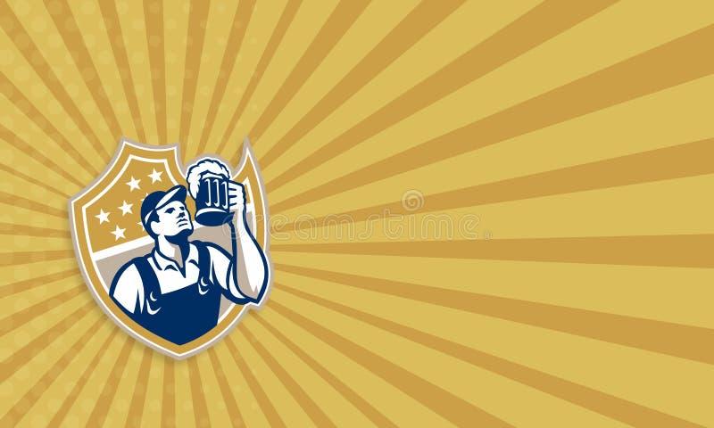Barman Beer Mug Retro de barman illustration libre de droits