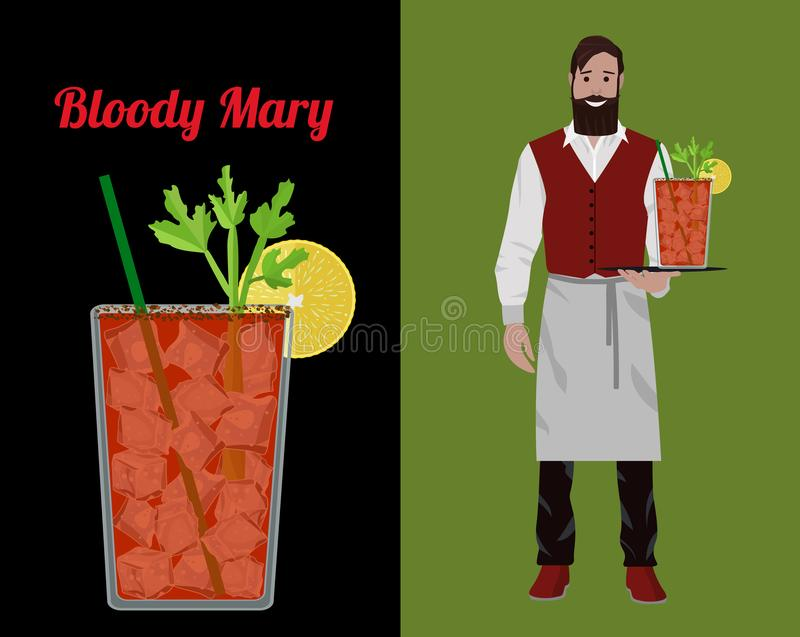 Barman de cocktail illustration stock