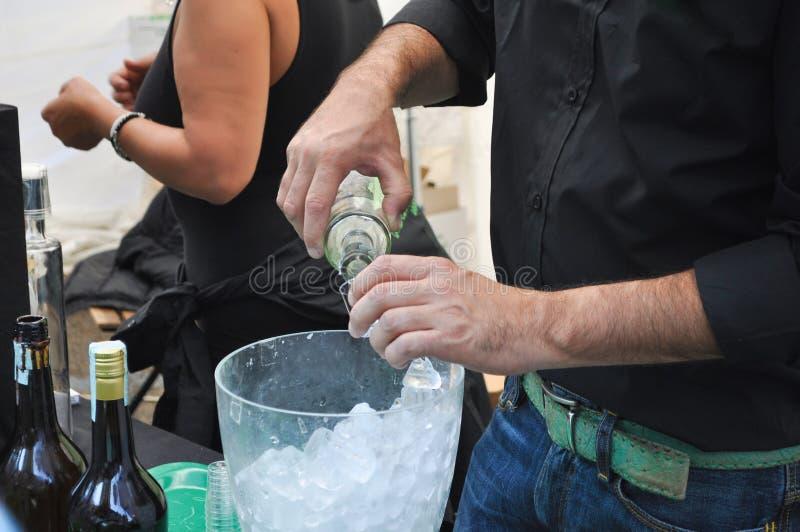 Barman et barmaid image libre de droits