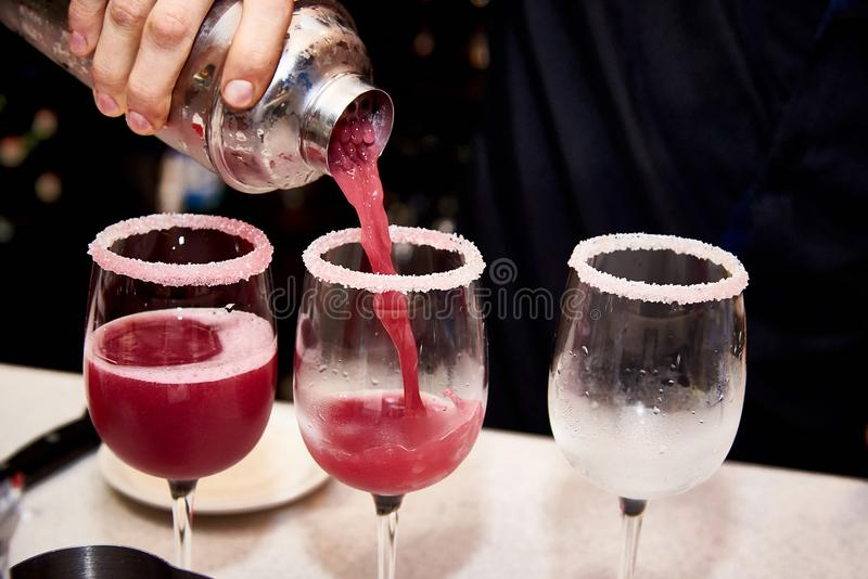 cool red cocktails royalty free stock image