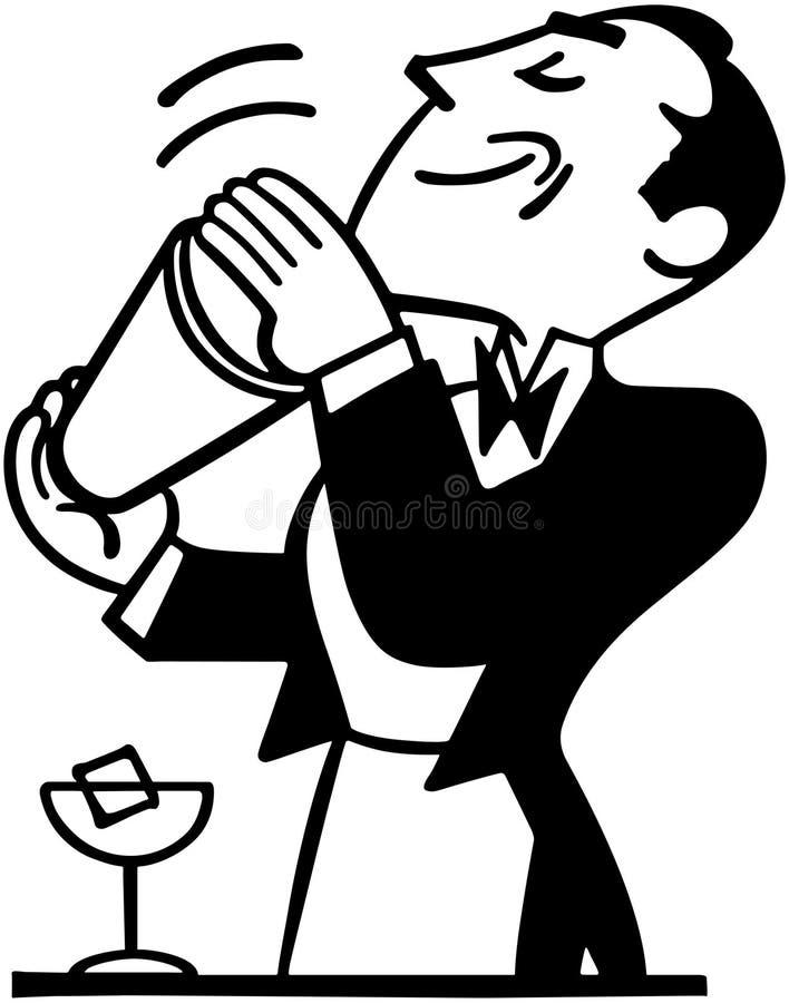 Barman Mixing Drink illustration libre de droits