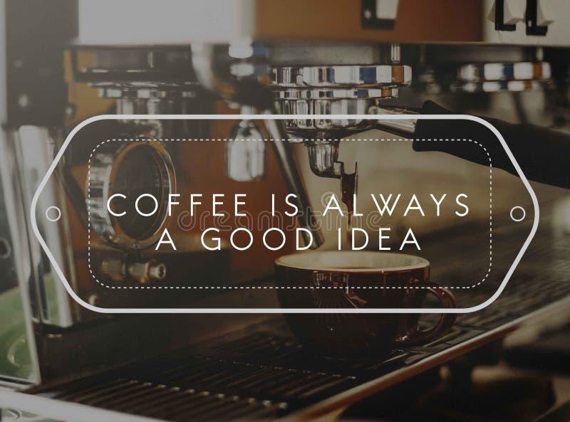 Barman Steam Coffee Chill de boisson réveillant le concept image stock