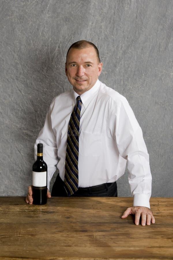 barmanu wino zdjęcia stock