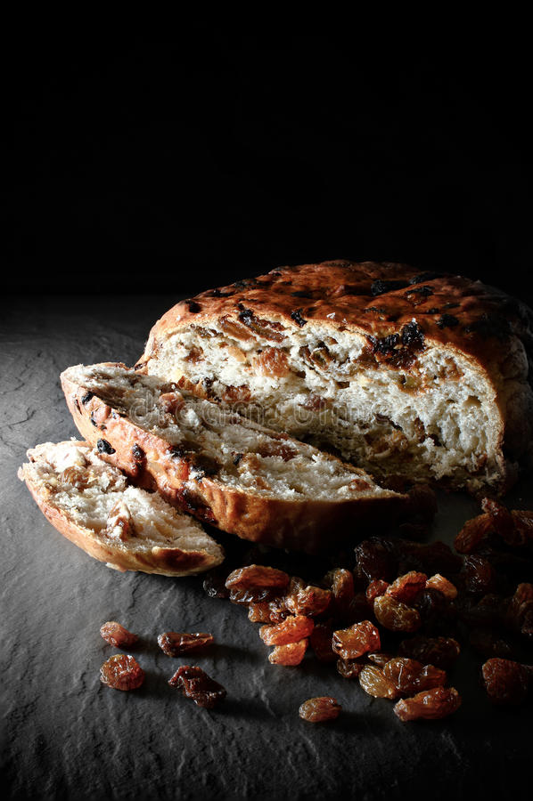 Barmbrack大面包 免版税库存照片