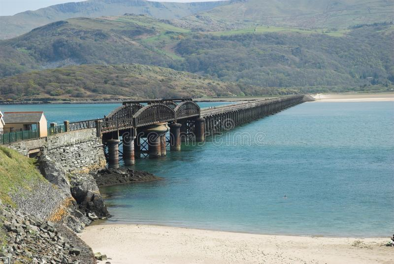 Download Barmouth Railway Bridge stock image. Image of track, beach - 22749835
