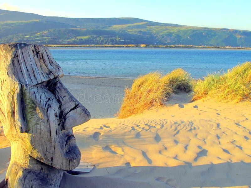 Barmouth-Sande, Wales. stockfotos