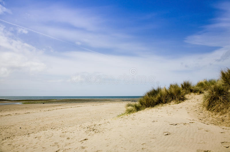 Barmouth strand norr Wales arkivbild