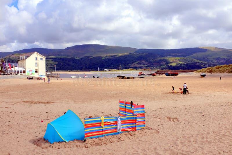 Barmouth, Wales stockbilder