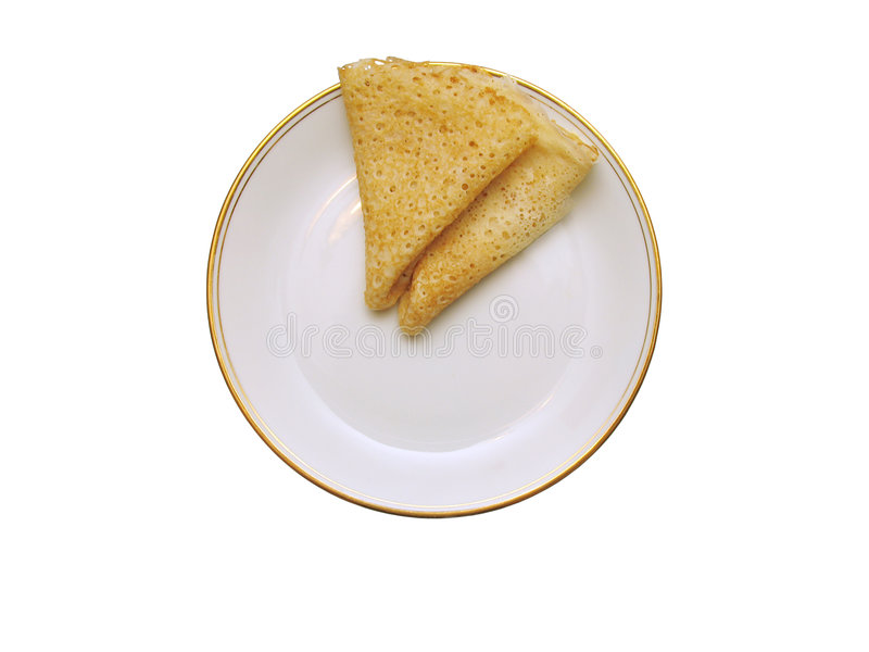 Barmy pancakes stock photography