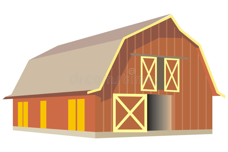 Download Barn stock vector. Illustration of vector, granary, animals - 3171374