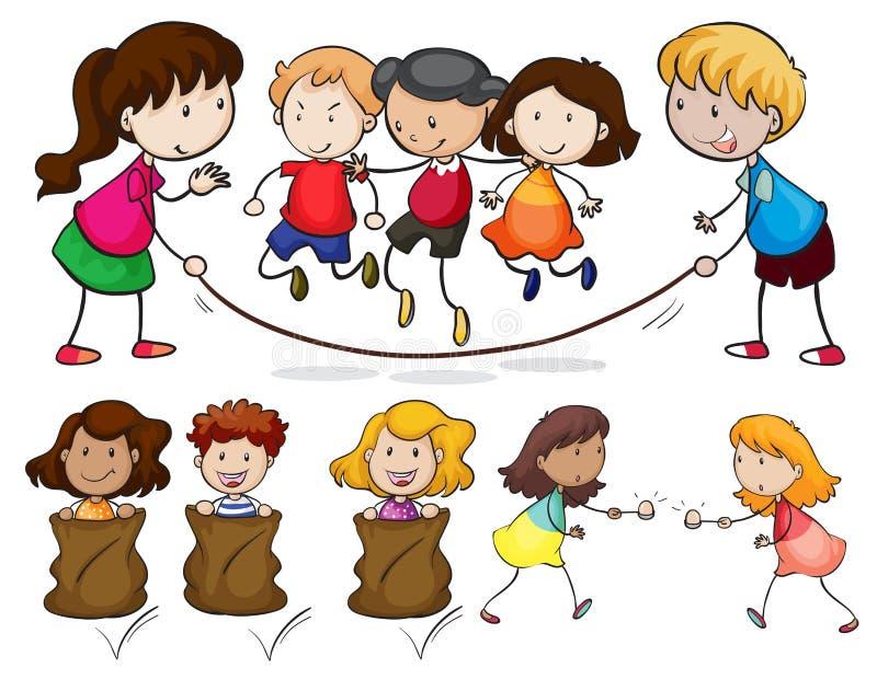 Barn vektor illustrationer