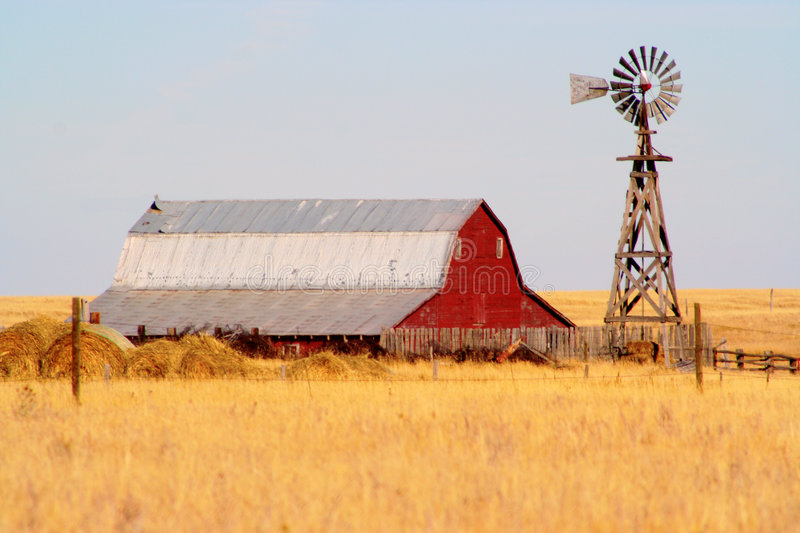 Barn. Somewhere outside of Cheyenne, Wyoming stock photos