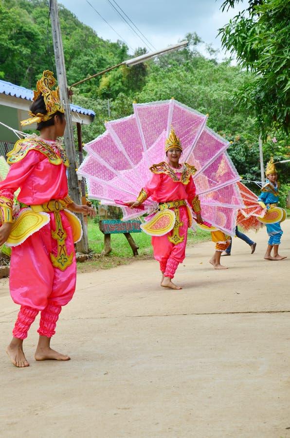 Barn av Shan dem showkinnaridans för handelsresande arkivfoton