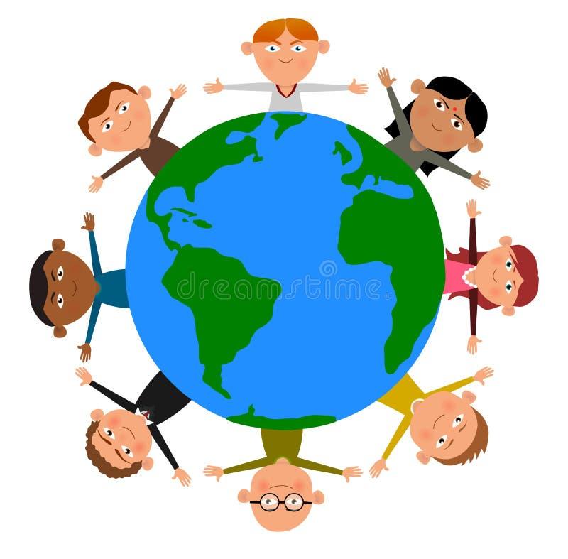 Barn av världen vektor illustrationer