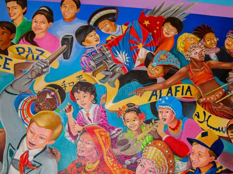 Barn av världsdrömmen av fred arkivbilder