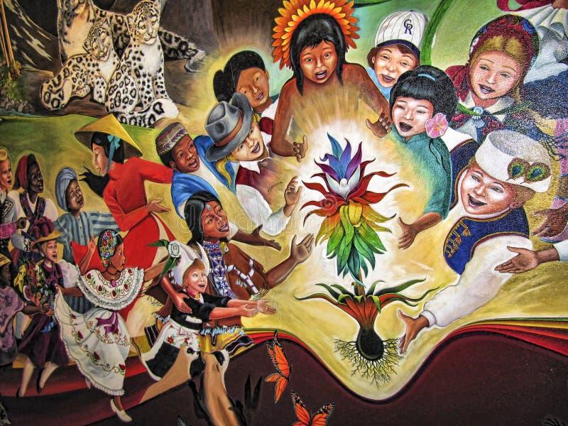 Barn av världsdrömmen av fred arkivbild