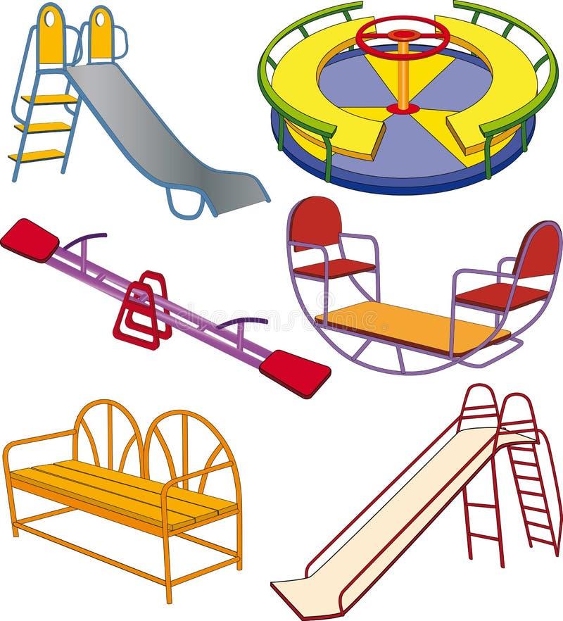 barn avslutar set swing för s vektor illustrationer