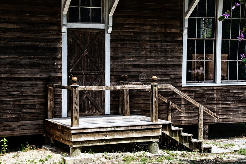 Barn building entry royalty free stock image