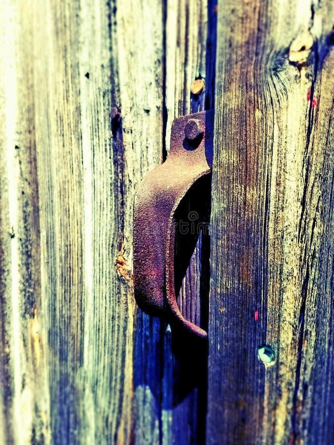 Barn door handle stock photos