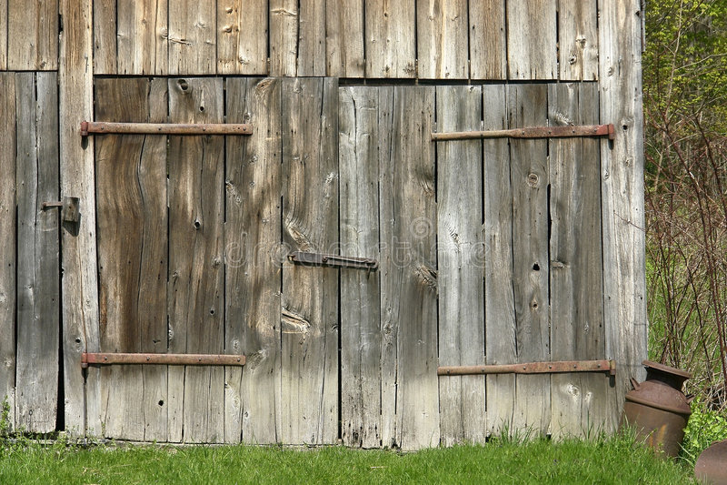 Barn doors royalty free stock photo